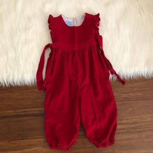 Other - b. Red Baby Corduroy Jumpsuit